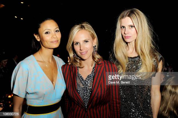 Actress Thandie Newton designer Tory Burch and model Laura Bailey attend a dinner celebrating the launch of the new Tory Burch shop on New Bond...