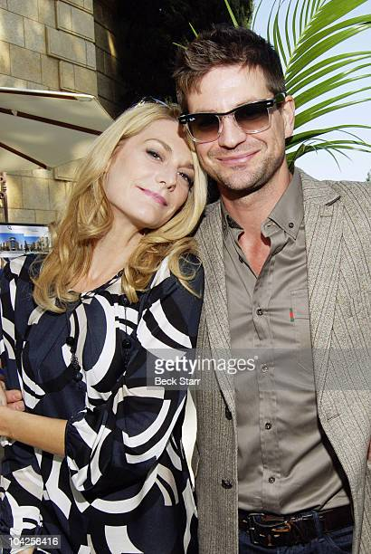 Actress Thea Gill and Actor Gale Harold attend the 8th Annual GLEH Garden Party on October 11 2009 in Los Angeles California