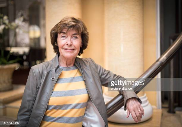 Actress Thekla Carola Wied smiles for the camera in Munich Germany 25 July 2017 She is hoping for more interesting roles for older actresses if...