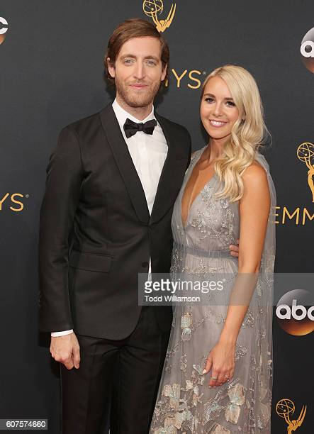 Actress Thomas Middleditch and Mollie Gates attend the 68th Annual Primetime Emmy Awards at Microsoft Theater on September 18 2016 in Los Angeles...