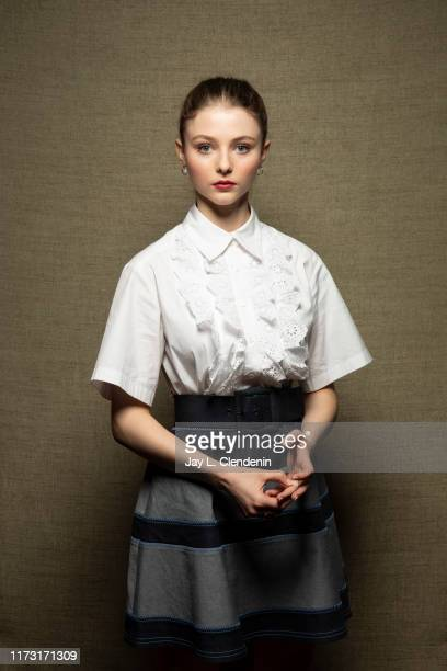 Actress Thomasin McKenzie from 'Jojo Rabbit' is photographed for Los Angeles Times on September 8 2019 at the Toronto International Film Festival in...