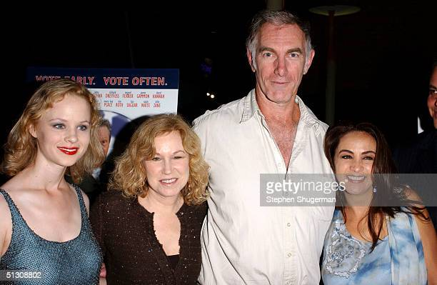 Actress Thora Birch actress Mary Kay Place Director John Sayles and actress Alma Delfina attend the Los Angeles Premiere of 'Silver City' at The...