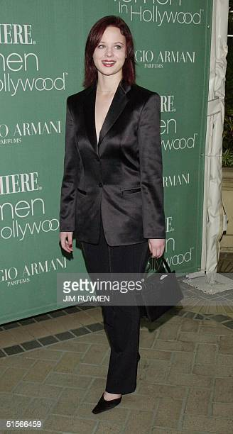 Actress Thora Birch arrives 11 October 2000 Premiere magazine's 7th annual Women in Hollywood luncheon honoring Drew Barrymore Holly Hunter Amanda...