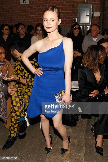 Actress Thora Birch attends the Christian Siriano Fall 2016 fashion show during New York Fashion Week at ArtBeam on February 13 2016 in New York City