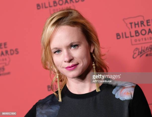 Actress Thora Birch attends the premiere of Three Billboards Outside Ebbing Missouri at Neuehouse Hollywood in Los Angeles on November 3 2017 / AFP...