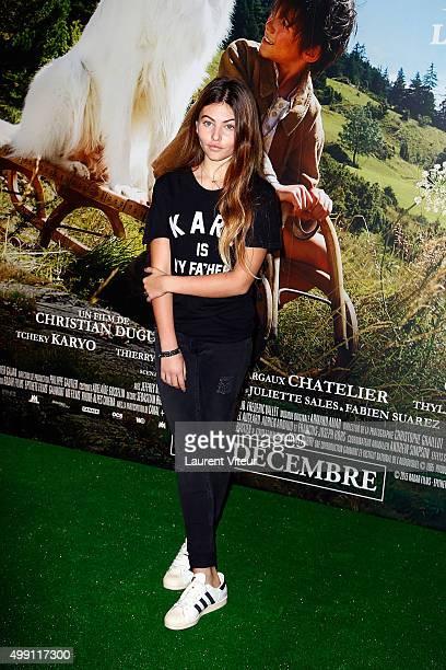 Actress Thylane Blondeau attends the ' Belle et Sebastien L'Aventure Continue' Paris Premiere at Cinema Gaumont Capucine on November 29 2015 in Paris...