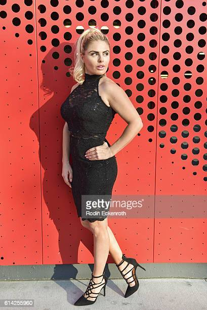 Actress Tia Barr poses for portrait at New Faces At The Starving Artists Project on October 12 2016 in Los Angeles California