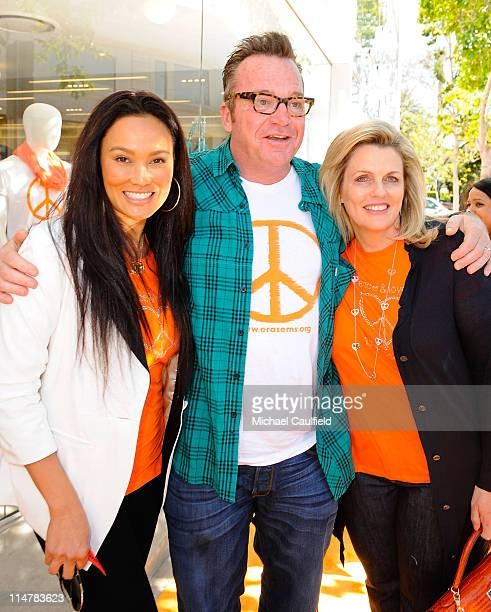 Actress Tia Carrere, actor Tom Arnold and Nancy Davis attend the Race To Erase MS fundraiser held at Kitson on Melrose to kick off May as multiple...