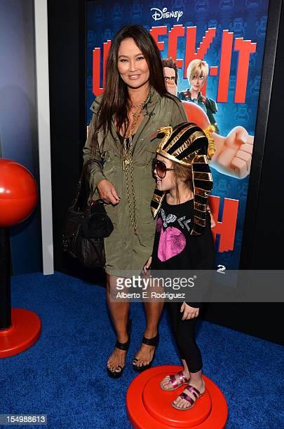 Actress Tia Carrere and Bianca Wakelin arrive at Walt Disney Animation Studios' WreckIt Ralph premiere at the El Capitan Theatre on October 29 2012...