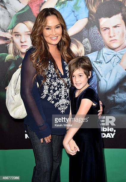 Actress Tia Carrere and Bianca Wakelin attend the premiere of Disney's Alexander and the Terrible Horrible No Good Very Bad Day at the El Capitan...