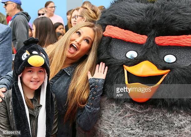 Actress Tia Carrere and Bianca Wakelin attend the premiere of The Angry Birds Movie in Westwood California on May 7 2016 / AFP / JeanBaptiste Lacroix