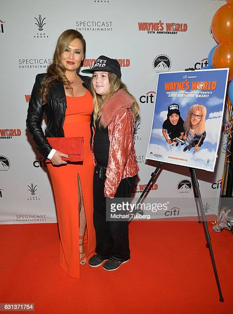 Actress Tia Carrere and Bianca Wakelin attend the 'Wayne's World' 25th Anniversary Panel Discussion at Pacific Theaters at the Grove on January 9...