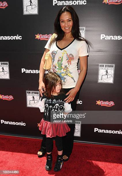 Actress Tia Carrere and daughter Bianca Wakelin attend the Sk8 For Life benefit at Fantasy Factory on May 22 2010 in Los Angeles California