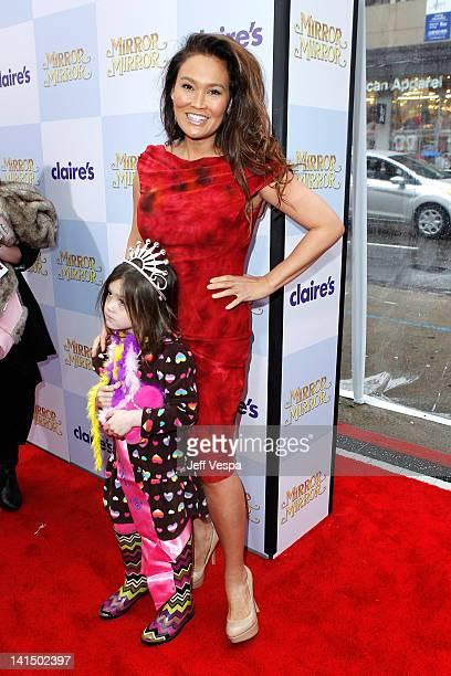 Actress Tia Carrere and daughter Bianca Wakelin attends the Mirror Mirror premiere at Grauman's Chinese Theatre on March 17 2012 in Hollywood...