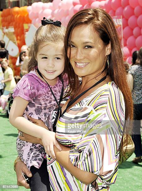 Actress Tia Carrere and her daughter Bianca Wakelin arrive at the premiere of Disney Pixar's Up at the El Capitan Theater on May 16 2009 in Los...