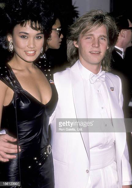 Actress Tia Carrere and Kenny Rogers Jr attend the 12th Annual People's Choice Awards on March 11 1986 at Santa Monica Civic Auditorium in Santa...