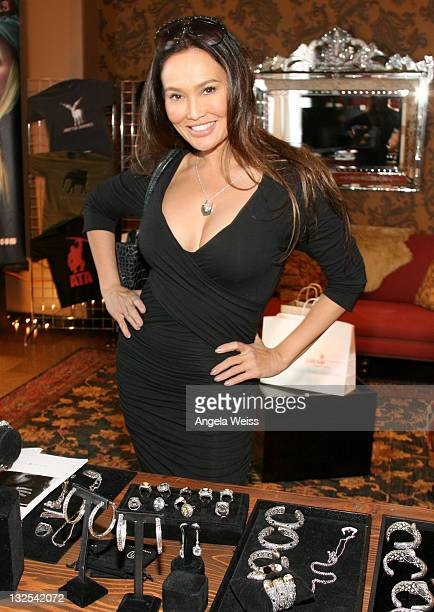 Actress Tia Carrere attends DAY 2 of the Ciroc Godiva Chocolate Vodka and OK Magazine Music Hotel and Gifting Lounge at The Redbury Hotel on February...