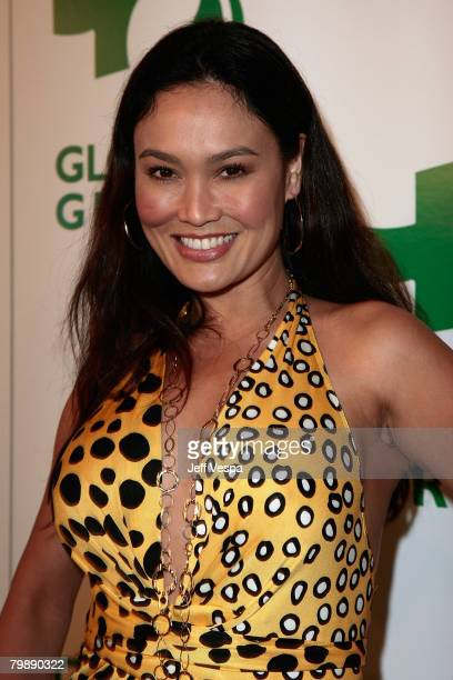 Actress Tia Carrere attends Global Green USA's 5th Annual Pre Oscar Party at Avalon Hollywood on February 20, 2008 in Los Angeles, California.