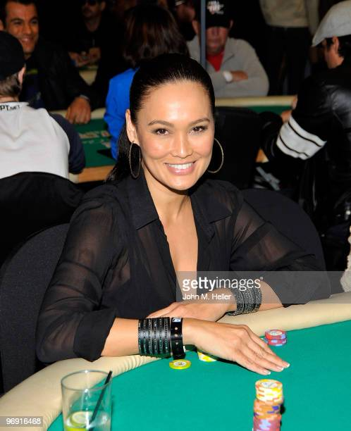 Actress Tia Carrere attends the 8th Annual World Poker Tour Invitational at Commerce Casino on February 20 2010 in City of Commerce California
