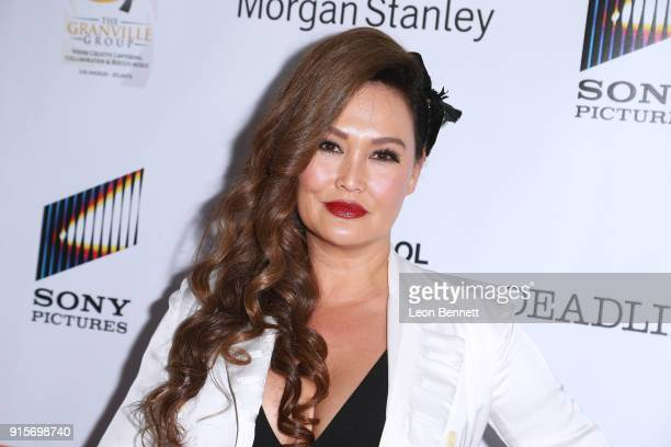 Actress Tia Carrere attends the 9th Annual AAFCA Awards at Taglyan Complex on February 7 2018 in Los Angeles California