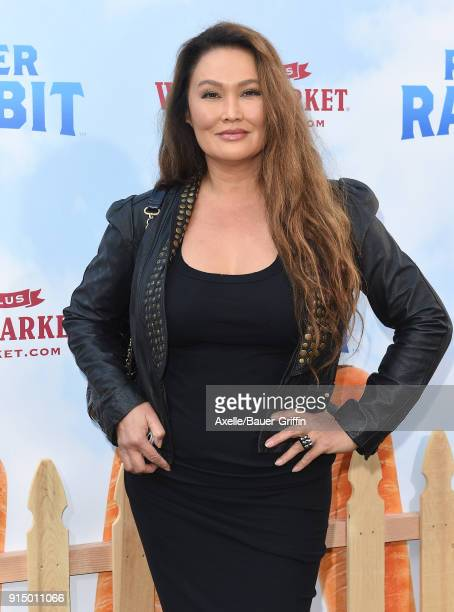 Actress Tia Carrere attends the Los Angeles Premiere of 'Peter Rabbit' at The Grove on February 3 2018 in Los Angeles California