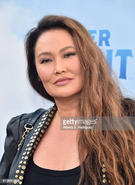 Actress Tia Carrere attends the premiere of Columbia Pictures' Peter Rabbit at The Grove on February 3 2018 in Los Angeles California