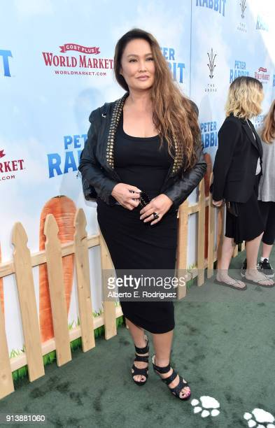 Actress Tia Carrere attends the premiere of Columbia Pictures' 'Peter Rabbit' at The Grove on February 3 2018 in Los Angeles California