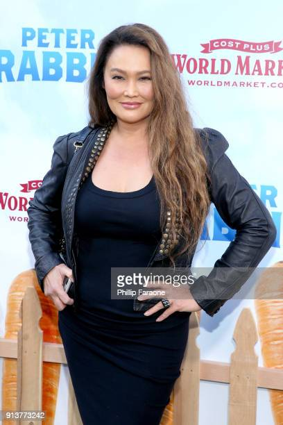 Actress Tia Carrere attends the premiere of 'Peter Rabbit' sponsored by Cost Plus World Market at The Grove on February 3 2018 in Los Angeles...