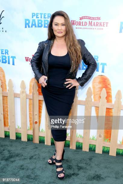 Actress Tia Carrere attends the premiere of 'Peter Rabbit,' sponsored by Cost Plus World Market, at The Grove on February 3, 2018 in Los Angeles,...