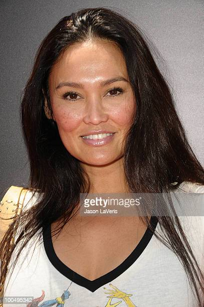 Actress Tia Carrere attends the Sk8 For Life benefit at Fantasy Factory on May 22 2010 in Los Angeles California