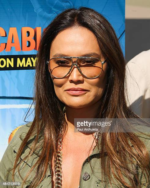 Actress Tia Carrere attends the the premiere of the new 3D Ultra HD digital animation adventure 'Despicable Me Minion Mayhem' at Universal Studios...
