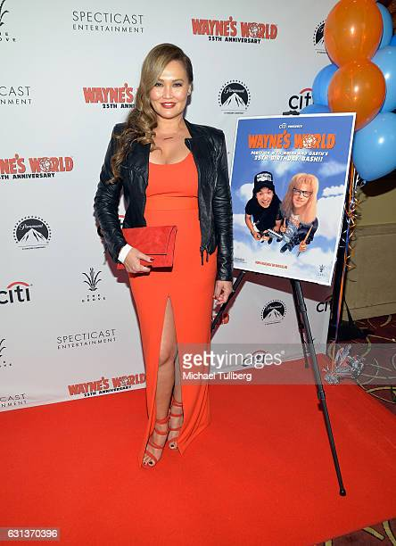 Actress Tia Carrere attends the Wayne's World 25th Anniversary Panel Discussion at Pacific Theaters at the Grove on January 9 2017 in Los Angeles...