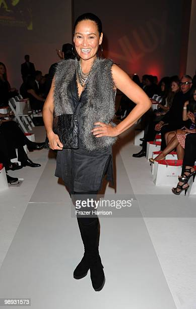 Actress Tia Carrere poses at the 2nd Annual Genlux Britweek Designer Of The Year Fashion Awards And Show at Smashbox Studios on May 8 2010 in West...