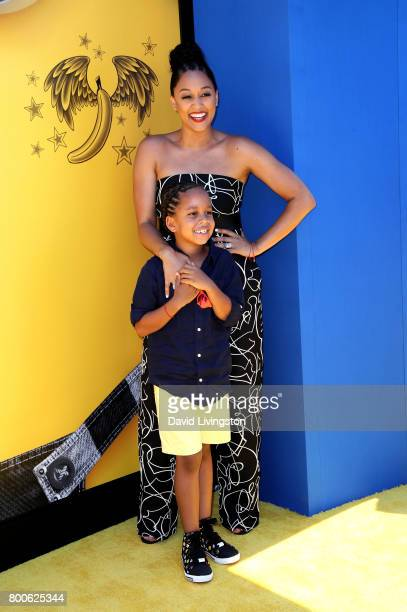 Actress Tia Mowry and Cree Taylor Hardrict attend the premiere of Universal Pictures and Illumination Entertainment's 'Despicable Me 3' at The Shrine...
