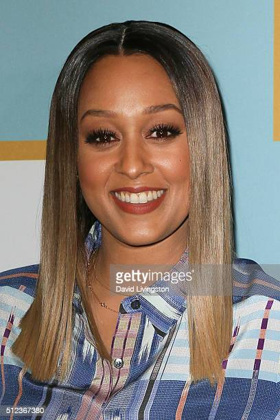 Actress Tia Mowry arrives at the Essence 9th Annual Black Women event in Hollywood at the Beverly Wilshire Four Seasons Hotel on February 25 2016 in...