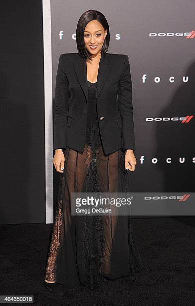 Actress Tia Mowry arrives at the Los Angeles World Premiere of Warner Bros Pictures Focus at TCL Chinese Theatre on February 24 2015 in Hollywood...