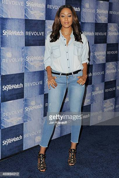 Actress Tia Mowry arrives at the People StyleWatch 4th Annual Denim Awards Issue at The Line on September 18, 2014 in Los Angeles, California.