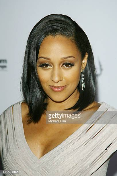 Actress Tia Mowry arrives at the TAG Records exclusive party hosted by Jermaine Dupri during BET Awards week held at Kress on June 23, 2008 in...