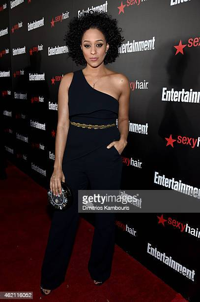 Actress Tia Mowry attends Entertainment Weekly's celebration honoring the 2015 SAG awards nominees at Chateau Marmont on January 24 2015 in Los...