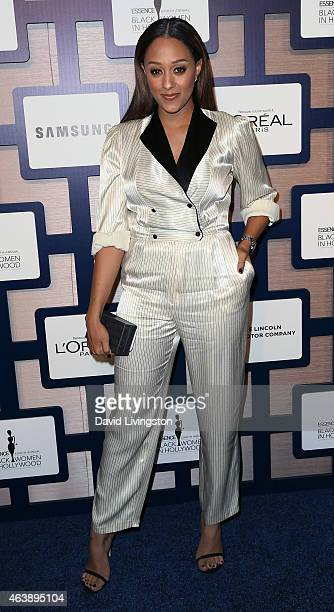 Actress Tia Mowry attends the 8th Annual ESSENCE Black Women In Hollywood Luncheon at the Beverly Wilshire Four Seasons Hotel on February 19 2015 in...