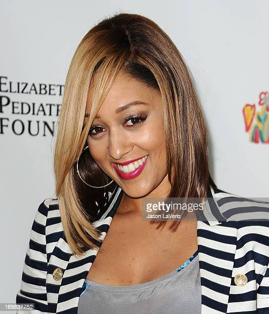 Actress Tia Mowry attends the Elizabeth Glaser Pediatric AIDS Foundation's 24th annual A Time For Heroes at Century Park on June 2 2013 in Los...