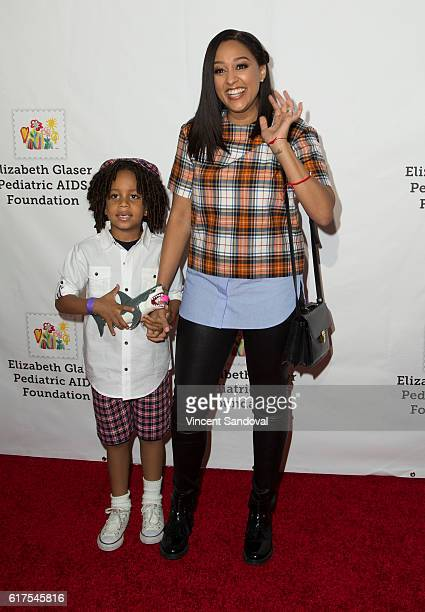 Actress Tia Mowry attends the Elizabeth Glaser Pediatric AIDS Foundation's 27th annual 'A Time For Heroes' at Smashbox Studios on October 23 2016 in...