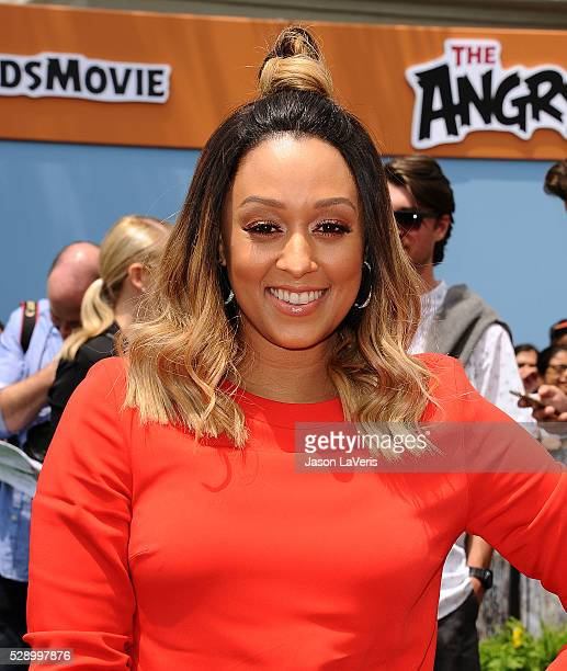 Actress Tia Mowry attends the premiere of 'Angry Birds' at Regency Village Theatre on May 7 2016 in Westwood California