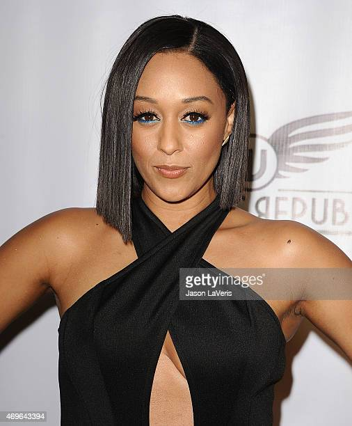 Actress Tia Mowry attends the premiere of 'Brotherly Love' at SilverScreen Theater at the Pacific Design Center on April 13 2015 in West Hollywood...