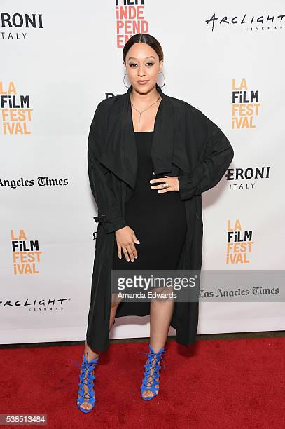 Actress Tia Mowry attends the premiere of 'Destined' during the 2016 Los Angeles Film Festival at Arclight Cinemas Culver City on June 6 2016 in...