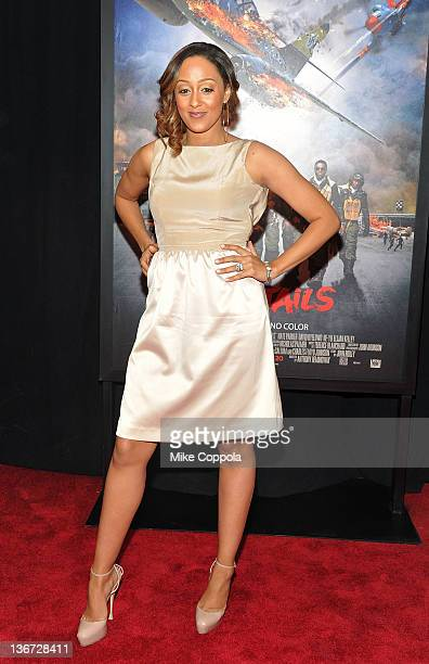 Actress Tia Mowry attends the Red Tails premiere at the Ziegfeld Theater on January 10 2012 in New York City