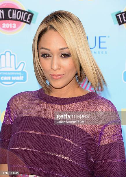 Actress Tia Mowry attends the Teen Choice Awards 2013 at Gibson Amphitheatre on August 11 2013 in Universal City California