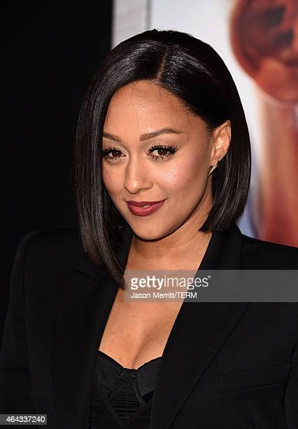 Actress Tia Mowry attends the Warner Bros Pictures' 'Focus' premiere at TCL Chinese Theatre on February 24 2015 in Hollywood California