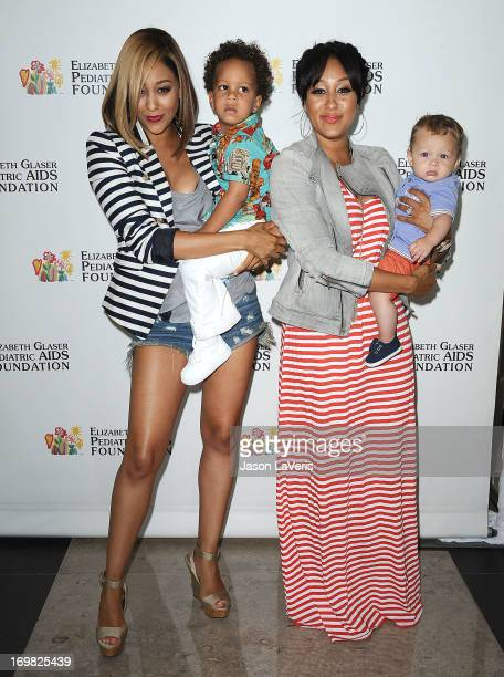 Actress Tia Mowry son Cree Hardrict actress Tamera Mowry and son Aden Housley attend the Elizabeth Glaser Pediatric AIDS Foundation's 24th annual 'A...