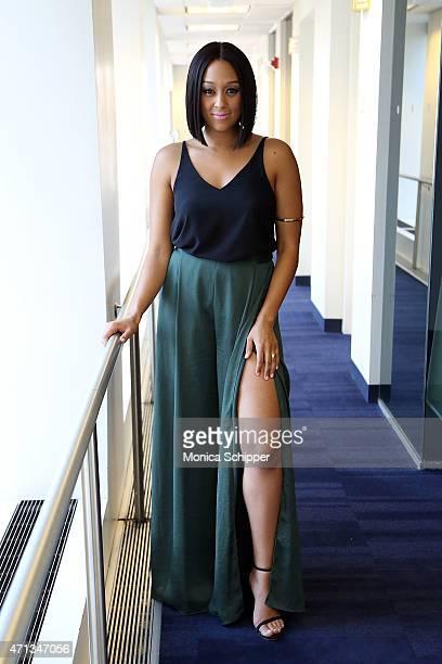 Actress Tia Mowry visits SiriusXM Studios on April 27 2015 in New York City